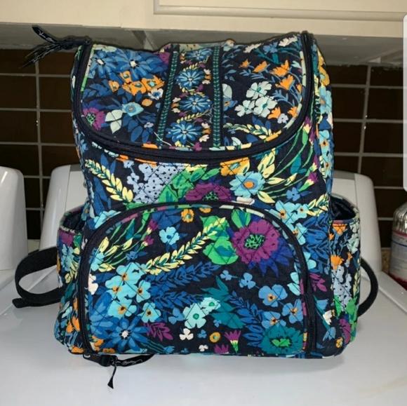 Vera Bradley Handbags - Vera Bradley Double Zip Midnight Blues Backpack